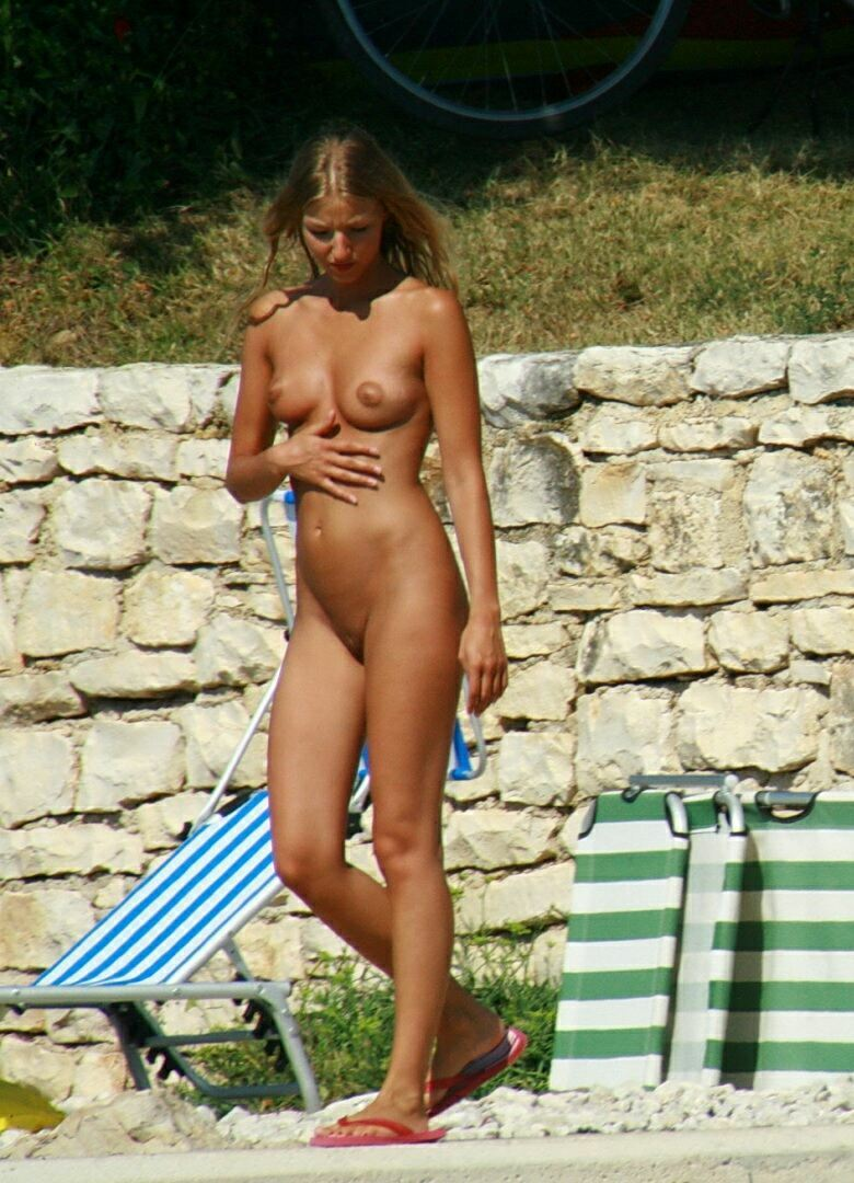 Naturist nudist women beach