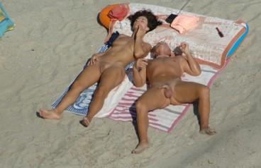 nudist family photo