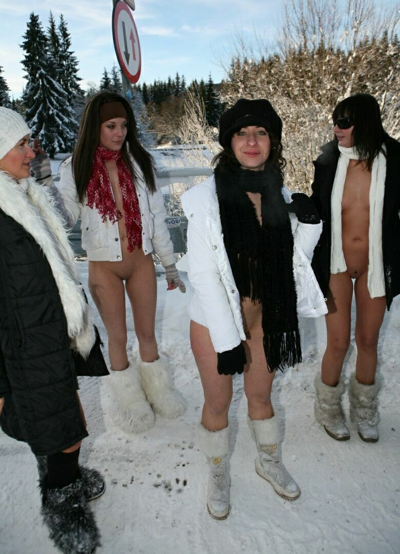 nudists are photographed in the snow 8